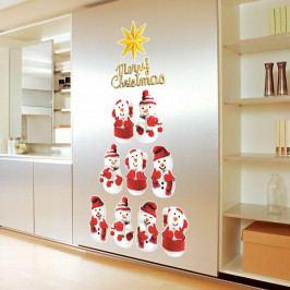 Sada 11 vánočních samolepek Ambiance Snowmen
