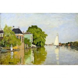 Obraz Claude Monet - Houses on the Achterzaan, 90x60 cm