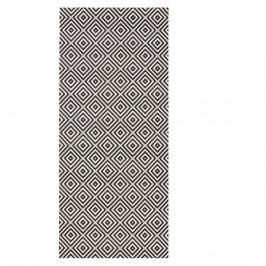 Černý koberec vhodný do exteriéru Bougari Karo, 80x150cm