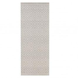 Šedý koberec vhodný do exteriéru Bougari Karo, 80x150cm