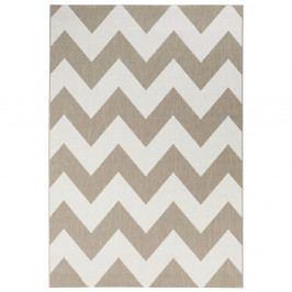 Béžovobílý koberec vhodný do exteriéru Bougari Unique, 120x170cm