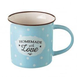 Modrý hrnek z kostního porcelánu Unimasa Homemade, 230ml