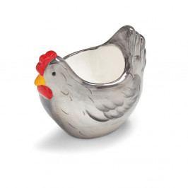 Stojánek na vajíčko ve tvaru slepice z glazované kameniny Cooksmart ® Farmers Kitchen