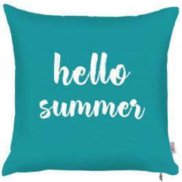 Modrý povlak na polštář Apolena Hello Summer, 43x43cm