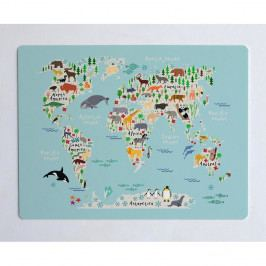 Podložka na stůl Little Nice Things World Map, 55 x 35 cm