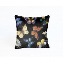 Oboustranný sametový polštář Surdic Butterfly Night, 45x45 cm