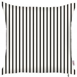 Černobílý povlak na polštář Apolena Pinky Light Stripes, 43x43cm