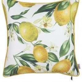 Povlak na polštář Apolena Lemon Pattern, 43 x 43 cm