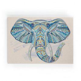 Dřevěná nástěnná dekorativní cedule Surdic Lino Elephant, 50 x 70 cm