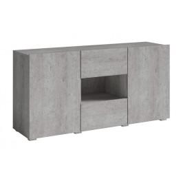 Moderní komoda Delos 2 - beton colorado / 137 cm
