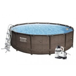 Bazén Bestway Rattan s konstrukcí 4,27 x 1,07 m písková filtrace 4/hod