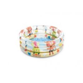 INTEX 57106 Bazén plážoví kamarádi 3 kruhový 61x22cm
