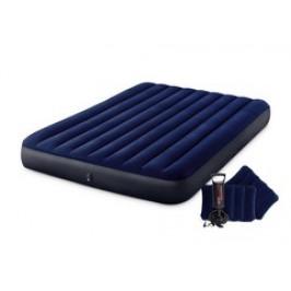 INTEX 64765 Nafukovací postel Classic Downy Blue Dura-Beam Serie Queen Set