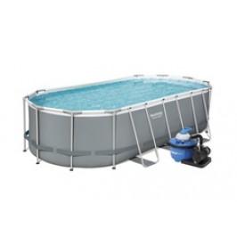 Bestway 56710 bazén s konstrukcí 5,49 x 2,74 x 1,22m písková filtrace 6m3/hod