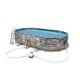 Bestway Stone 56719 bazén s konstrukcí 6,10 x 3,66 x 1,22m set