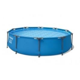 Bazén Bestway s konstrukcí 3,05 x 0,76 m šedý + písková filtrace 2m3/hod