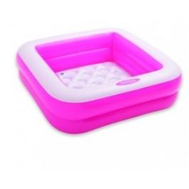INTEX 57100 Bazén čtverec 85 x 85 x 23 cm - růžový