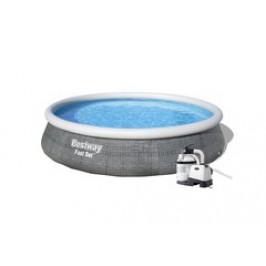Bazén Bestway Rattan 4,57 x 1,07m set + písková filtrace 4m3/hod