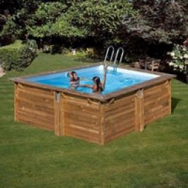 Bazén GRE Nature Wood Carra 3,05 x 3,05 x 1,19m set s pískovou filtrací 4m3/h