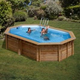 Bazén GRE Nature Wood Canelle 5,51 x 3,51 x 1,19m set s pískovou filtrací 6m3/h