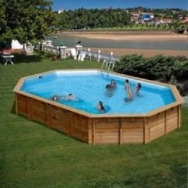 Bazén GRE Nature Wood Vermela 6,72 x 4,72 x 1,46m set s pískovou filtrací 8m3/h