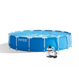 Bazén INTEX Metal Frame 4,57 x 1,22m set + písková filtrace 4m3/hod