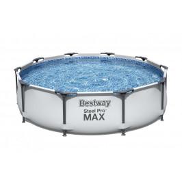 Bazén Bestway s konstrukcí 3,05 x 0,76 m světle šedý s kartušovou filtrací