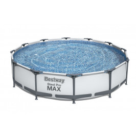 Bazén Bestway s konstrukcí 3,66 x 0,76m světle šedý s kartušovou filtrací