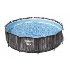 Bazén Bestway s konstrukcí 3,66 x 1,00 m Wood set s pískovou filtrací 2m3/hod