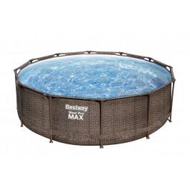 Bazén Bestway Rattan s konstrukcí 3,66 x 1,00 m set s pískovou filtrací 2m3/hod
