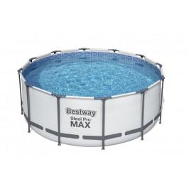 Bazén Bestway s konstrukcí 3,66 x 1,22m světle šedý set s pískovou filtrací 4m3/hod