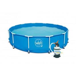 Bazén Swing Metal Frame 3,66 x 0,84m písková filtrace 2m3/hod