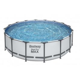Bazén Bestway s konstrukcí 4,88 x 1,22m světle šedý set s pískovou filtrací 6m3/hod