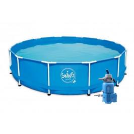 Bazén Swing Metal Frame 4,57 x 1,22m písková filtrace 4m3/hod