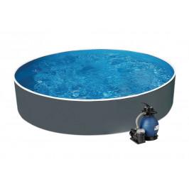 Bazén AZURO GRAPHIT 3,6 x 0,9m + písková filtrace 4,5m3/hod