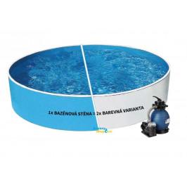Bazén AZURO BLUE / WHITE 3,6 x 0,9m + písková filtrace 4,5m3/h