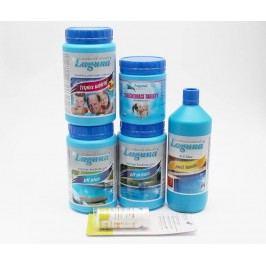 IV.Set na chlorové ošetření vody (Triplex tablety, pH-, pH+, Algicid, Vločkovací tablety, tester)