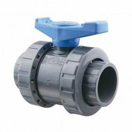 Kulový dvoucestný ventil PVC  - 63mm