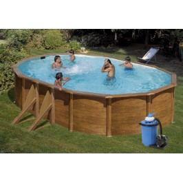 Bazén GRE Pacific 6,1 x 3,75 x 1,2m set + písková filtrace 6m3/h