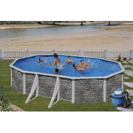 Bazén GRE Iraklion 6,1 x 3,75 x 1,2m set + písková filtrace 6m3/h