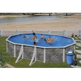 Bazén GRE Iraklion 7,3 x 3,75 x 1,2m set + písková filtrace 7m3/h