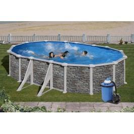 Bazén GRE Iraklion 6,1 x 3,75 x 1,32m set + písková filtrace 6m3/h