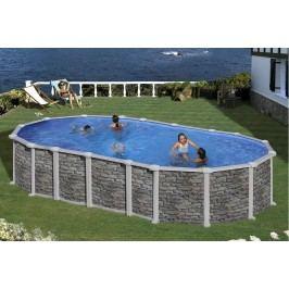 Bazén GRE Iraklion 6,1 x 3,75 x 1,32m set bez vzpěr