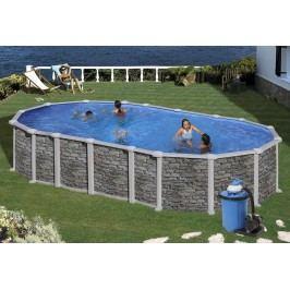 Bazén GRE Iraklion 6,1 x 3,75 x 1,32m set bez vzpěr + písková filtrace 6m3/h