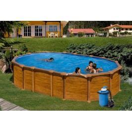 Bazén GRE Pacific 6,1 x 3,75 x 1,32m set bez vzpěr + písková filtrace 6m3/h