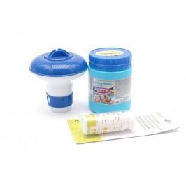 VI Základní set na chlorové ošetření vody pro bazeny do 10m3 (MINI Triplex tablety, tester, plovák malý)