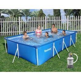 Bazén Bestway s konstrukcí 4,00 x 2,11 x 0,81 m písková filtrace 2m3/hod