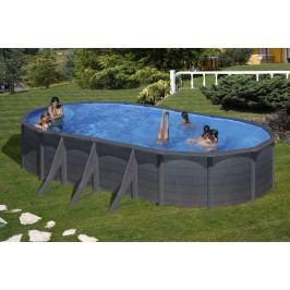Bazén GRE Graphite 7,3 x 3,75 x 1,2m set + písková filtrace 7m3/h