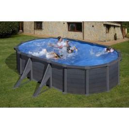 Bazén GRE Graphite 6,1 x 3,75 x 1,32m set + písková filtrace 6m3/h