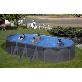 Bazén GRE Graphite 7,3 x 3,75 x 1,32m set + písková filtrace 7m3/h
